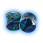 Lava Acrylic Flesh Plug - Blue Green Black