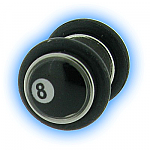 8 Ball Design Fake Plain Ear Stretching Plug