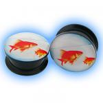 Acrylic Screw Plug Goldfish
