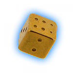 Gold Plated Screw On Dice - 1.6mm (14g)