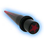 Acrylic Ear Stretching Taper Expander Red Star