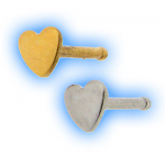 316 Stainless Steel Straight Heart Nose Stud