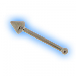 Straight Titanium Cone End Nose Bone - 0.8mm (20g)