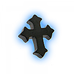 Black PVD Screw On Cross - 1.6mm (14g)