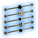 Industrial Scaffold Barbell with Symbol