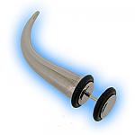 Fake Ear Stretcher Expander Curved Steel