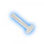 1mm (18g) Clear BioFlex Internal Micro Labret Shaft