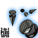 2 in 1 Plug Expander Stretching Set - Carbon