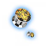 Steel Ear Plug Screw Front - Tiger