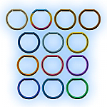1.2mm (16g) Titanium Bar Closure Ring