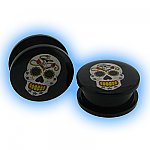 Acrylic Two Piece Logo Plug - Sugar Skull