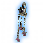 Clip on Belly Ring Shooting Star Dangle Britney