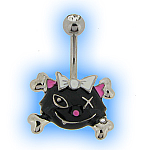Hellcat Belly Bar - Navel Jewellery