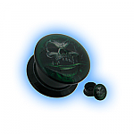 Acrylic Ear Plug Screw Front - Green Phantom