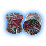 Lava Acrylic Flesh Plug - Purple Green Black