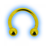 Yellow Neon Circular Barbell CBB - 1.6mm (14 gauge)
