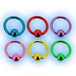 Neon Ball Closure Ring BCR - 1.2mm (16g)