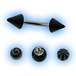 Black acrylic interchangeable Eyebrow Bar set