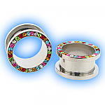 Rainbow Gem Set Steel Screw Tunnel