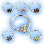 Forward facing Flower Hinged Micro Segment Ring