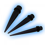 Set 3 Acrylic Black Straight Expanders Kit