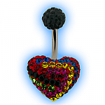 Rainbow Disco Heart Belly Bar