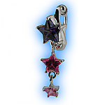 Clip on Belly Ring Star Cascade