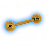 Gold Plated Straight Barbell & Balls - 1.2mm (16G)