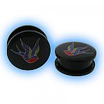 Acrylic Two Piece Logo Plug - Swallow Bird