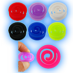 Coloured Flexible Silicone Spiral Plug