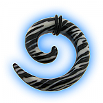 Acrylic Ear Stretching Spiral - Zebra