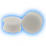 White Ear Plug Silicone