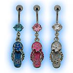 Flip Flop Belly Bar - Navel Jewellery