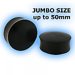 Jumbo Organic Black Areng Wood Flesh Plug