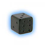 Black PVD Screw On Dice - 1.6mm (14g)