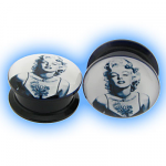 Acrylic Screw Plug Marilyn Monroe
