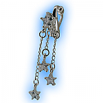 Non Piercing Belly Ring Shooting Clear Star Dangle Britney