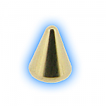 Gold Plated Screw On Cone - 1.2mm (16g)