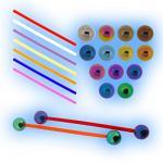 Bioflex Barbell - Titanium Balls - 1.6mm (14G)