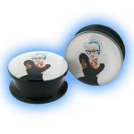 Acrylic Screw Plug Tattooed Girl