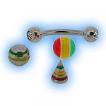 Multi interchangeable Eyebrow Bar set