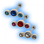 Upper Ear Stud - Gem Trio