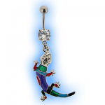 Colourful Lizard Gecko Belly Bar