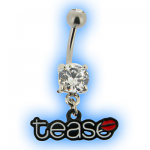 Tease Belly Bar with Lips