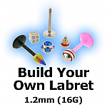 Build Your Own 1.2mm (16G) Labret Stud