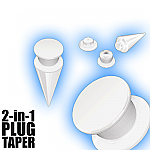 2 in 1 Plug Expander Stretching Set - White