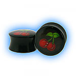 Black Acrylic Cherry Saddle Plug