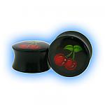 Black Acrylic Cherry Saddle Plug
