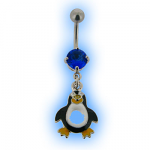 Percy Penguin Belly Bar - Navel Jewellery