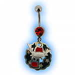 Christmas Belly Bar - Rudolph with Wreath